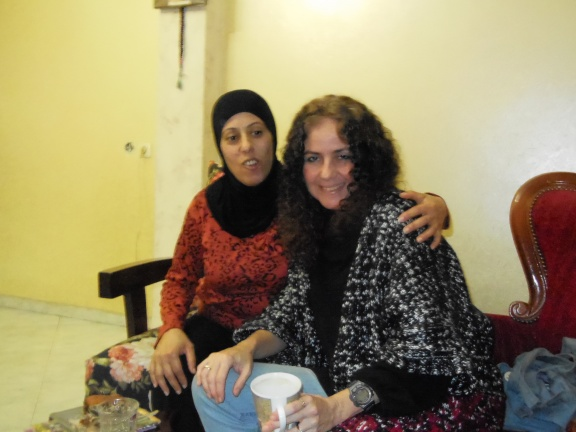 Visiting old friends, in the Arab city of Tamra