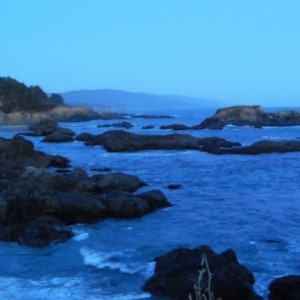 Night falling on The Sea Ranch