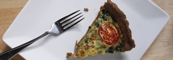 Quiche with a Teff Crust
